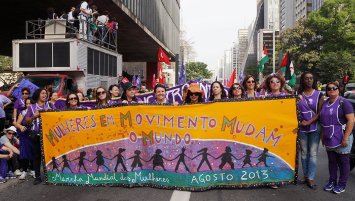 mulheres marcha